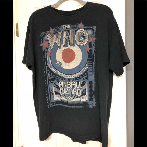 The Who vintage band concert pinball wizard XL
